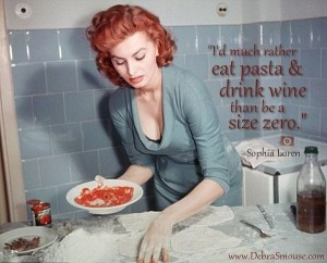 picture of sophia loren pizza and pasta